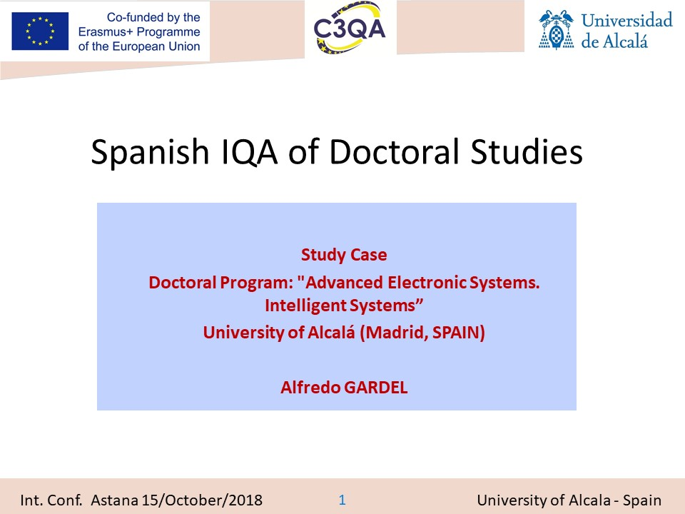 Spanish IQA of Doctoral Studies 20181015