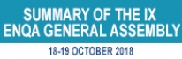 Summary of the 9th ENQA General Assembly  in 18-19 October, 2018